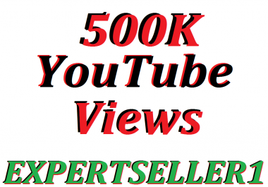 Limited Offer 500K HQ You/Tube Vie-ws to make Attractive your Video