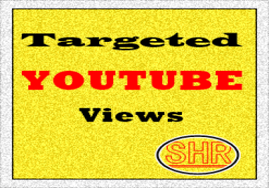 1,000 Targeted Country Youtube views Or 100 Likes
