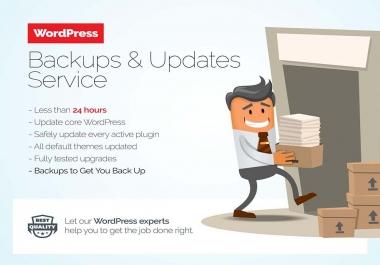 WordPress Backups & manually Updates WordPress version