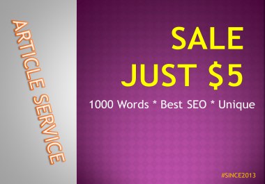 1000 Words Article Writing SALE