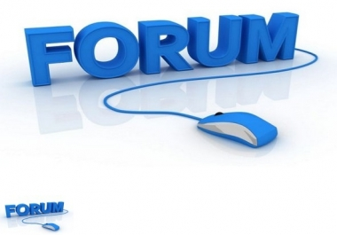 submite 35 high quality forum post.