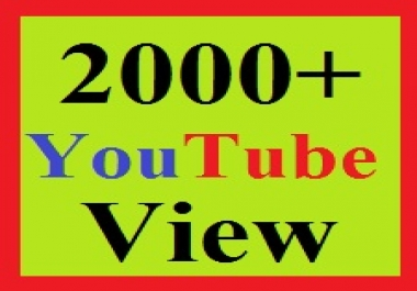 2,000+ YouTube view-s safe and ranking for your videos