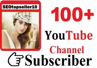 Instant start 100+ Youtube channel subs-criber non dropeed guaranteed  just