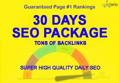 Manually 30 days SEO service, daily whitehat backlinks package