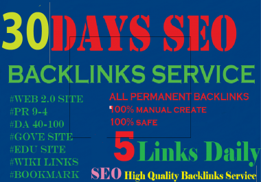 30 Days SEO Service Daily Whitehat PERFECT Backlinks