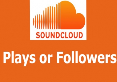 200+ SoundCloud Followers non drop or10,000+ SoundCloud Plays or 250+ SoundCloud Likes or 80+ Soundcloud Repost
