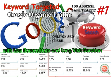 Cheap Unlimited Organic keyword Target Traffic with low bounce Rate