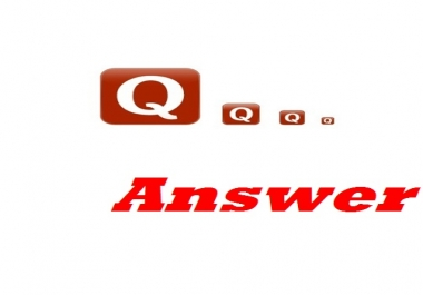 Make 20 qura answers posting for targeted traffic for