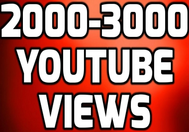 Add Fast 2000-3000+ You-Tube HIGH QUALITY Views NON DROP