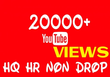 Add 20000+ HQ HR Non Drop Youtube videos service professionally
