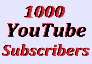Wonder Full Pack 1000 You+Tube Subscribers Non Drop only