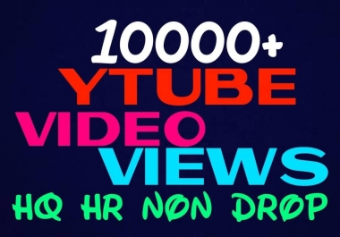 Provide 10000+ HQ, HR, Non Drop Youtube Service permanently