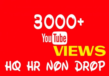 Provide 3000+ HQ, HR, Non Drop Youtube Service permanently