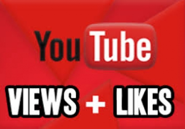 non drop 1000 youtube views+100 youtube likes together