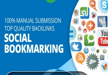 Create 50 Social Bookmarks High Quality Backlinks on Authority Sites Domains With Google Index