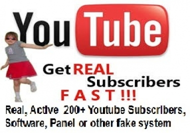 Real, Active ,  ++youtube sub 300 without any Bot, Software, Panel or other fake system