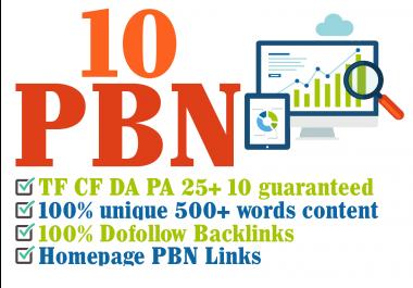 POWERFUL PBN 10 Manual HIGH TF CF DA PA 30+ to 10 Dofollow