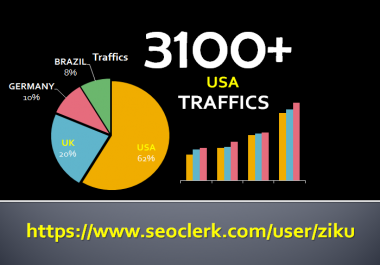 send 3100+ USA Web Traffics with Social Media Referral