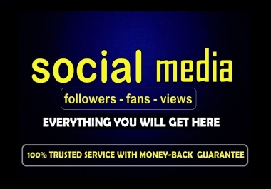 Promote Your any one of your social media profile to 1000 people