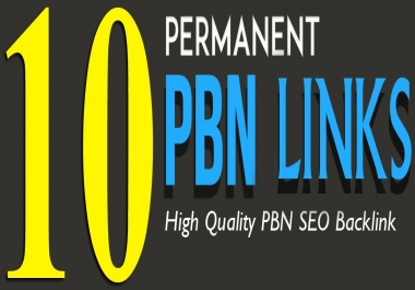10 Manual Home Page TF CF DA PA 15+ PBN Backlinks