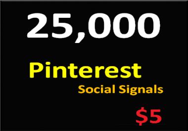 25,000+ Pinterest Social Signals Permanent PowerFul Social Media