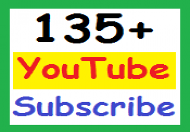 130 + YouTube chanel subscr ibers Or 100+ YouTube Lik es non-drop, super fast delivery