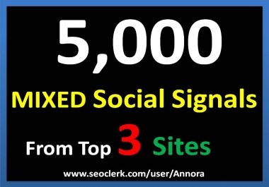Manual 5000+ TOP 3 Social Media platform Social Signals