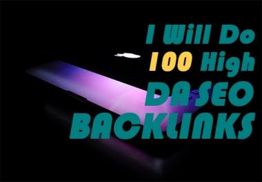 Do 100 high da SEO backlinks