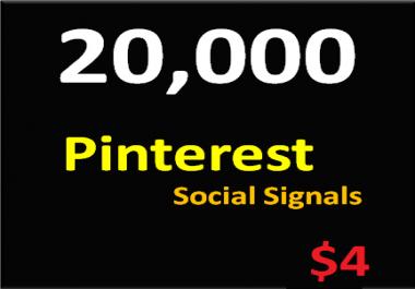 20,000+ Pinterest Social Signals Permanent PowerFul Social Media