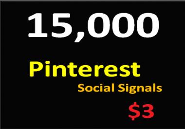 15,000+ Pinterest Social Signals Permanent PowerFul Social Media