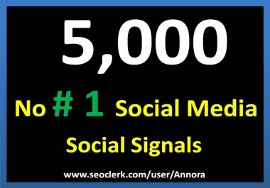 5,000 Social Signals Come From Top 1 Social Media Sites PR9 Pinterest Google Plus Social Bookmark