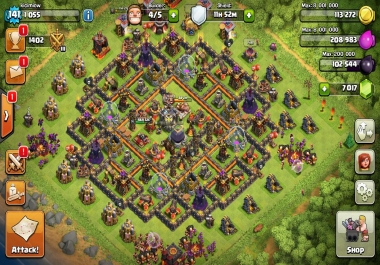 PLAY YOUR CLASH OF CLANS ACCOUNT FOR 2 MONTHS ANY TOWNHALL LEVEL AND MAKE IT TO MAX.