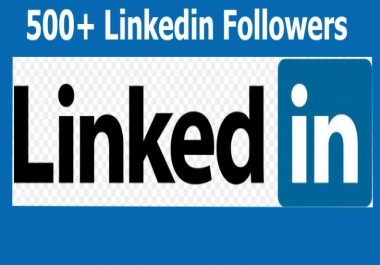 Buy real active and high quality  500+ LinkedIn Followers or all social media service here