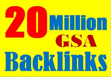 Monster Link Building Package - 20 Million verified GSA Backlink for Websites and Videos