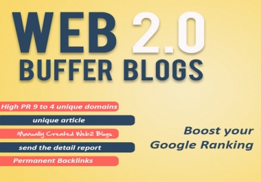 50 HQ web 2.0 Blogs Backlink boost your google possition