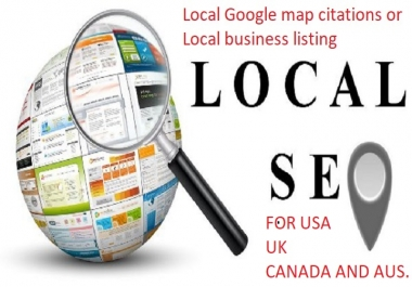 Boost your google rank locally with 40 USA local listing or google map citations + 20 pr9 backlinks