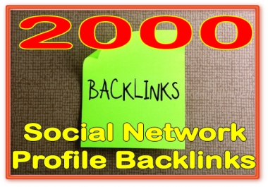 Give you 2000 HQ PR Panda safe Contextual & Unique Social networks profiles backlinks