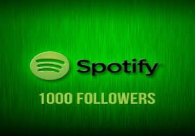 Get 1100 Spotify Foll-owers