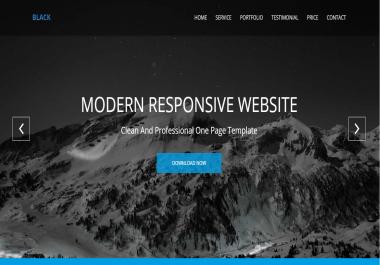 Design Modern Responsive Website In A Professional Manner