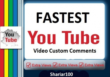 SuperFast 45+ You=Tube Non drop Custom Comments Different account must be give