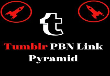 Powerful Tumblr PBN Link Pyramid With PA 30 and DA 98 Metrics
