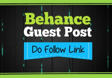 Write And Publish A Guest Post On Behance