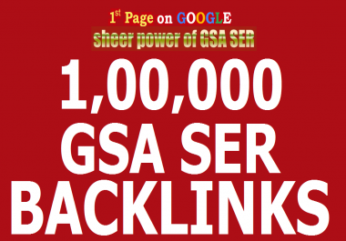 Use Gsa Ser To Create 100,0000 Backlinks