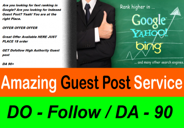 Guest Post Dofollow backlink on DA 90 Site