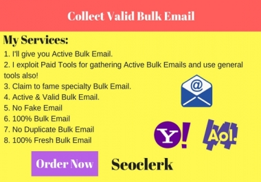 Collect valid Bulk Email Collection