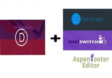 Install Divi Theme And 3 Wordpress Divi Plugins