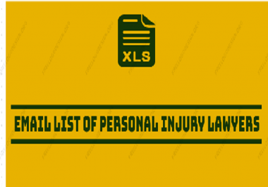 Email List of Personal Injury, SSD, WC Lawyers