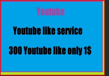 300 YT lik supper fast and cheap rate