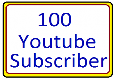 Super offer 100 + YouTube subscribers non drop 1-9 hours order completed very fast only