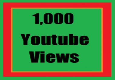 Super offer 1000 + YouTube views non drop 24 hours order completed very fast only